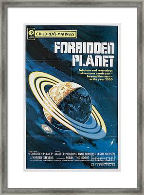 Forbidden Planet Classic Movie Poster Framed Print