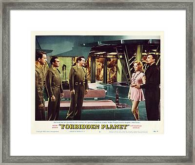 Forbidden Planet In Cinemascope Retro Classic Movie Poster Indoors Framed Print