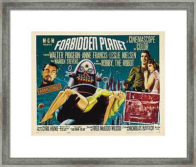 Forbidden Planet In Cinemascope Retro Classic Movie Poster Framed Print