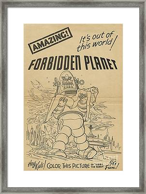 Forbidden Planet In Color This Picture Retro Classic Movie Poster Portraite Framed Print