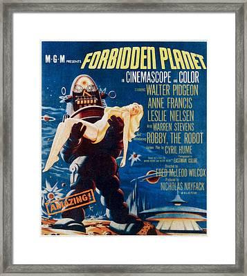Forbidden Planet, Left Robby The Robot Framed Print