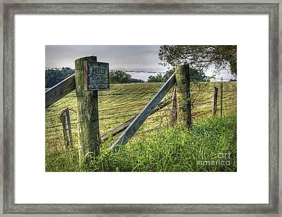 Forbidden View Framed Print