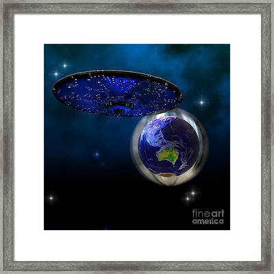 Force Field Framed Print by Corey Ford