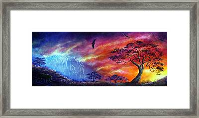 Force Of Nature Framed Print by Ann Marie Bone