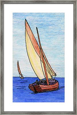 Force Of The Wind On The Sails Framed Print