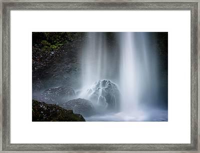 Force Of Water Framed Print