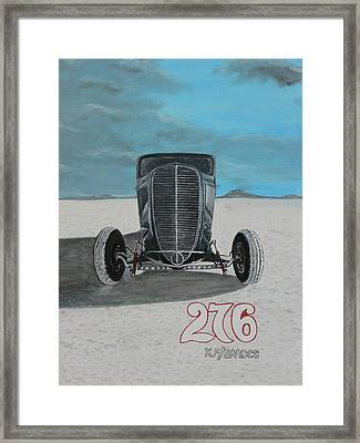 Ford 34' At Bonneville Framed Print by Chris Lambert