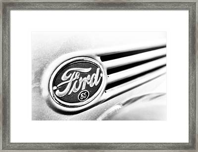 Framed Print featuring the photograph Ford 85 In Black And White by Caitlyn Grasso