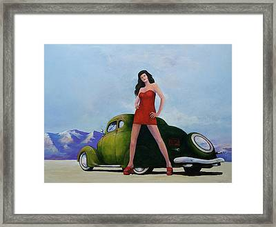 Ford And Chick Framed Print by Peter Wedel