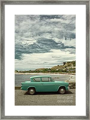 Ford Anglia In New Zealand Framed Print by Simon Bradfield