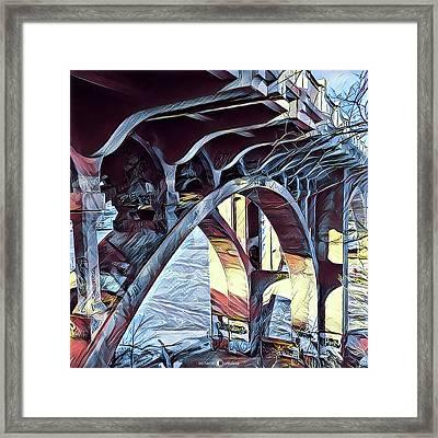 Ford Bridge Winter 1 Framed Print by Tim Nyberg