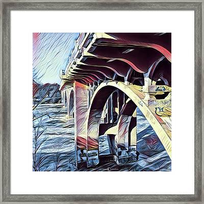 Ford Bridge Winter Framed Print by Tim Nyberg