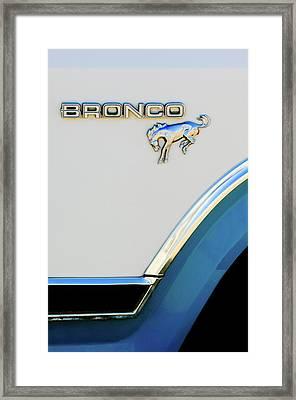 Ford Bronco Emblem Framed Print