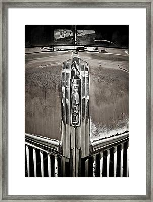 Ford Chrome Grille Framed Print by Marilyn Hunt