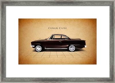 Ford Consul Capri Framed Print