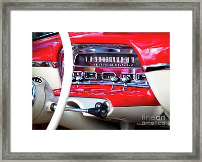 Framed Print featuring the photograph Ford Dash by Chris Dutton