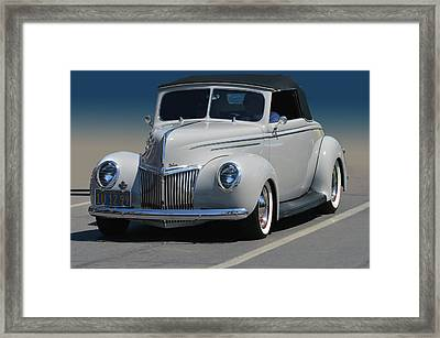 Ford Deluxe Convertible Framed Print