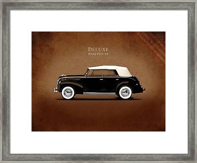 Ford Deluxe V8 1938 Framed Print by Mark Rogan