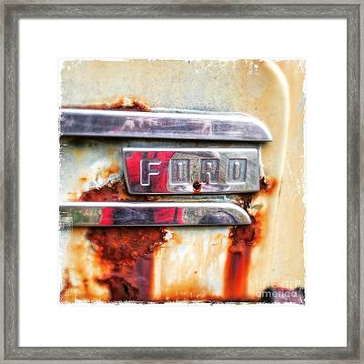 Framed Print featuring the photograph Ford Details by Terry Rowe