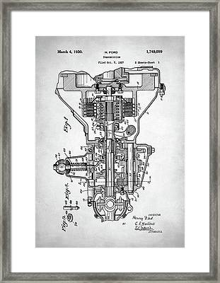Ford Engine Patent Framed Print