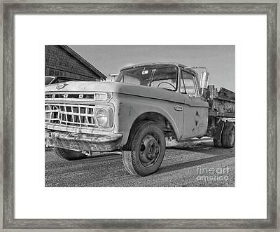 Ford F-150 Dump Truck Bw Framed Print