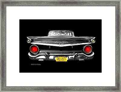 Ford Fairlane 500 Framed Print by Diana Angstadt