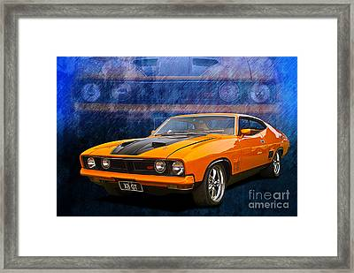 Ford Falcon Xb 351 Gt Coupe Framed Print by Stuart Row