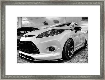 Ford Fiesta In Hdr Framed Print by Vicki Spindler
