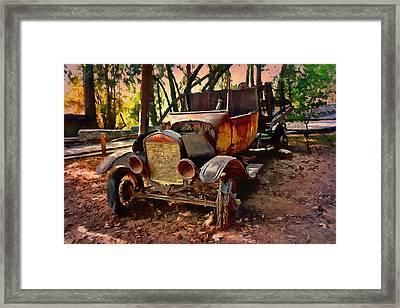 Ford Flatbed Truck Framed Print