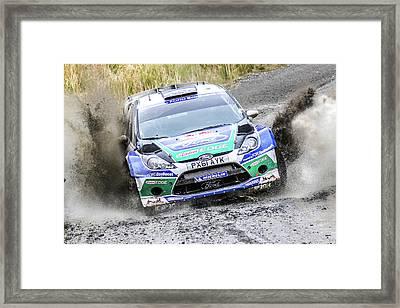 Ford Focus Wrc Rally Gb Framed Print