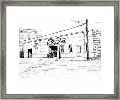 Ford Garage, Bentonville Arkansas, 1916 Framed Print
