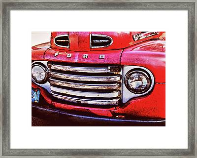 Ford Grille Framed Print by Michael Thomas
