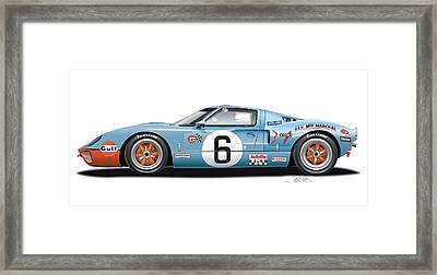 Ford Gt 40 1969 Framed Print