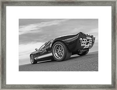 Ford Gt 40 In Black And White Framed Print