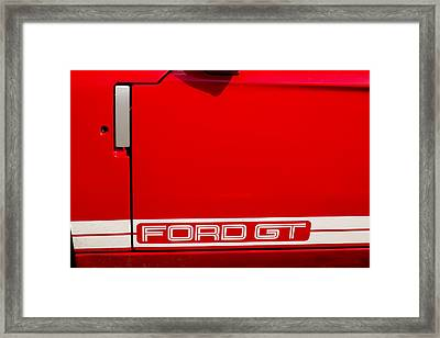 Ford Gt Door Framed Print by Georgia Fowler