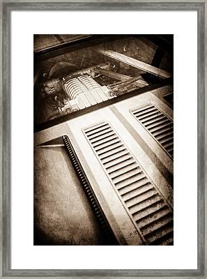 Ford Gt Engine -0391s Framed Print