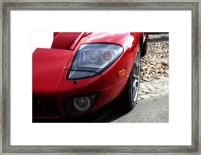 Ford Gt Front Headlight Framed Print by Georgia Fowler