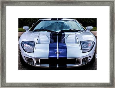 Ford Gt Framed Print by Jenn Evans