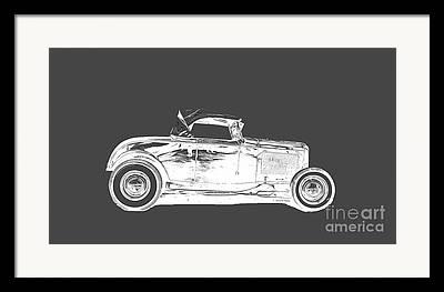 Ford Model T Car Drawings Framed Prints