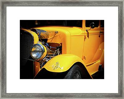 Framed Print featuring the photograph Ford Hot-rod by Jeremy Lavender Photography