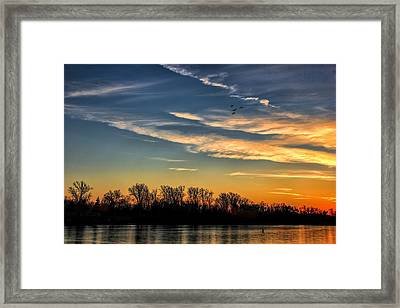 Ford Lake Sunset Framed Print