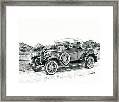 Ford Model A 1930 Framed Print by Jeff Blazejovsky
