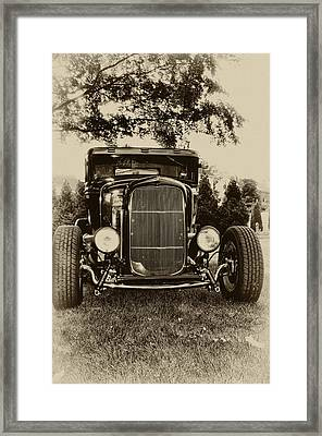 Ford Model A Framed Print by Bill Cannon