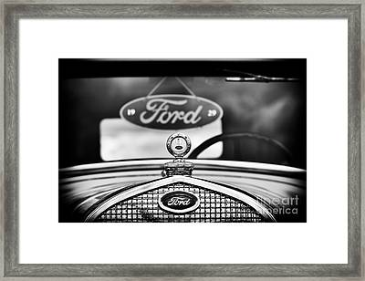 Ford Model A Monochrome Framed Print