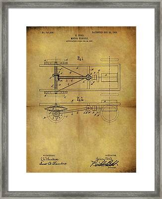 Ford Model T Patent Framed Print by Dan Sproul