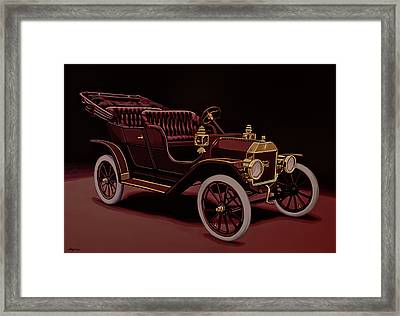 Ford Model T Touring 1908 Painting Framed Print
