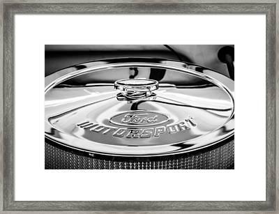 Ford Motorsport Engine -0530bw Framed Print