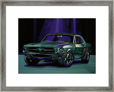 Ford Mustang 1967 Painting Framed Print by Paul Meijering