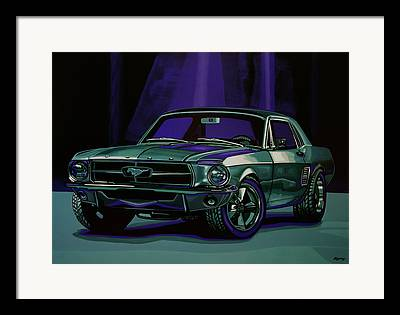 Purple Ford Framed Prints