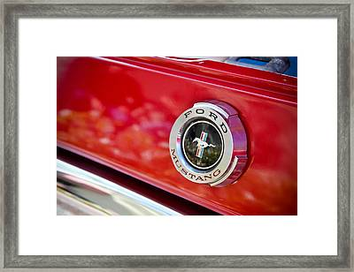 Ford Mustang Framed Print by April Reppucci